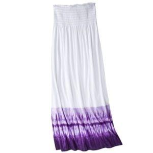 Xhilaration • Tie Dye Bandeau Maxi Swim Cover Up